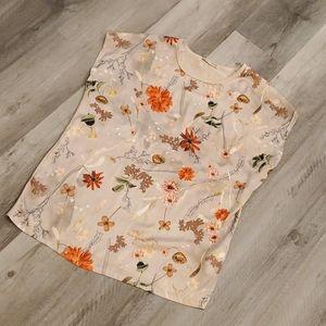 2/$15 Zara Basic Collection Floral Cap Sleeve Top